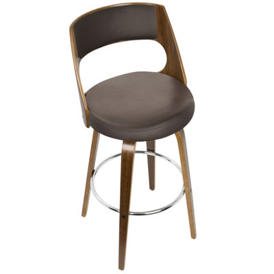 Cecina Mid-Century Modern Barstool with Swivel by LumiSource
