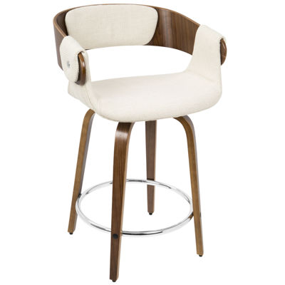 Elisa Mid-Century Modern Counter Stool by LumiSource