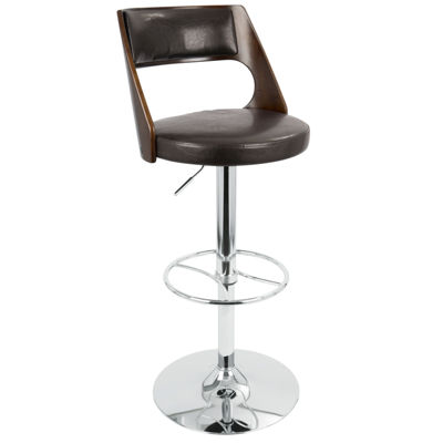 Presta Height Adjustable Mid-Century Modern Barstool with Swivel by LumiSource