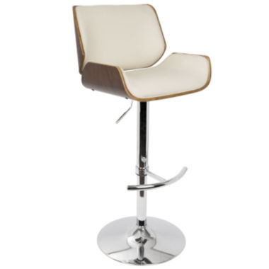 Santi Height Adjustable Mid-Century Modern Barstool with Swivel by LumiSource