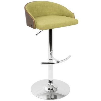 Shiraz Mid-Century Modern Adjustable Barstool by LumiSource