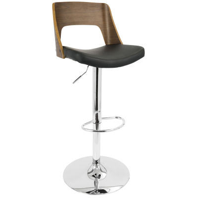 Valencia Height Adjustable Mid-Century Modern Barstool with Swivel by LumiSource