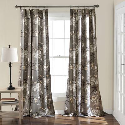 Lush Decor Botanical Garden 2-Pack Room Darkening Curtain Panel