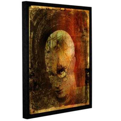 Brushstone Metro Brain Gallery Wrapped Floater-Framed Canvas Wall Art