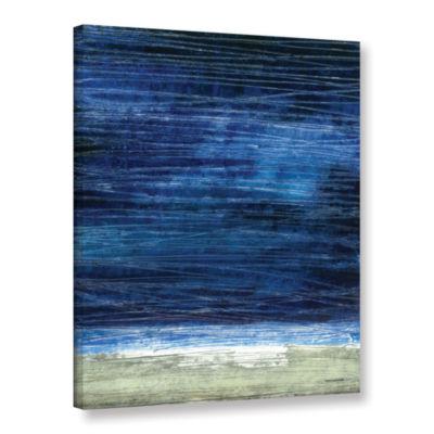 Brushstone Midnight Desert Coast Gallery Wrapped Canvas Wall Art