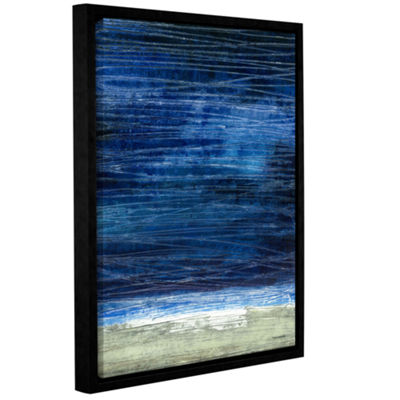 Brushstone Midnight Desert Coast Gallery Wrapped Floater-Framed Canvas Wall Art