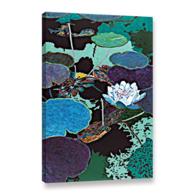 Brushstone Midnight Moonglow Gallery Wrapped Canvas Wall Art