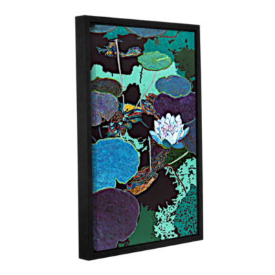 Brushstone Midnight Moonglow Gallery Wrapped Floater-Framed Canvas Wall Art