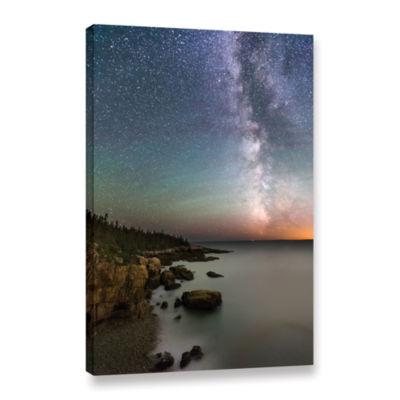 Brushstone Milky Way Acadia National Park GalleryWrapped Canvas Wall Art