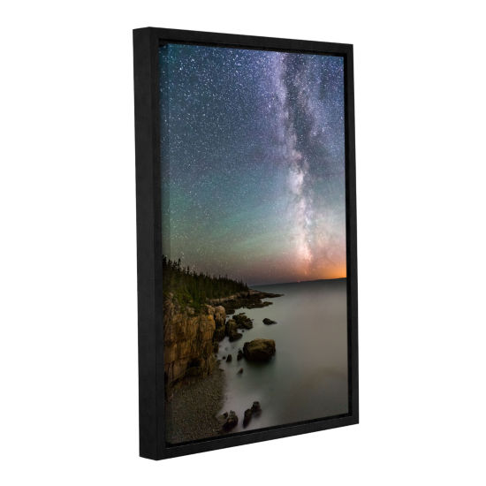 Brushstone Milky Way Acadia National Park GalleryWrapped Floater-Framed Canvas Wall Art