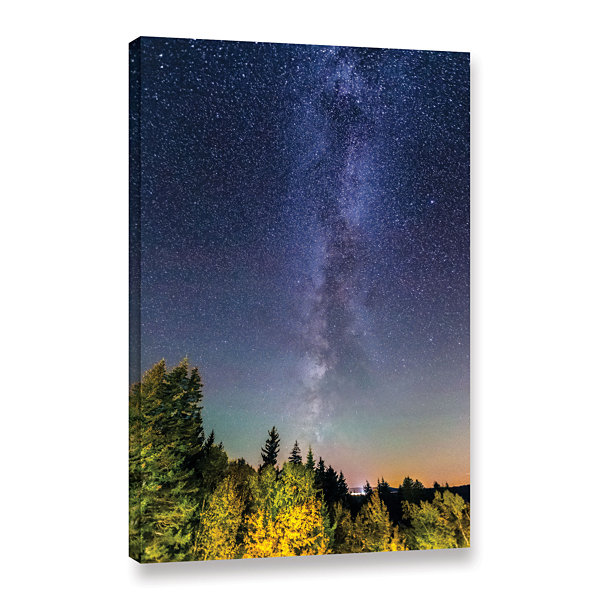 Brushstone Milky Way In Maine 2 Gallery Wrapped Canvas Wall Art