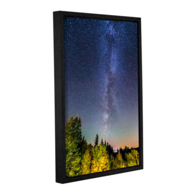 Brushstone Milky Way In Maine 2 Gallery Wrapped Floater-Framed Canvas Wall Art