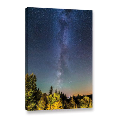 Brushstone Milky Way In Maine Gallery Wrapped Canvas Wall Art