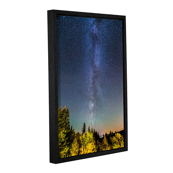 Brushstone Milky Way In Maine Gallery Wrapped Floater-Framed Canvas Wall Art
