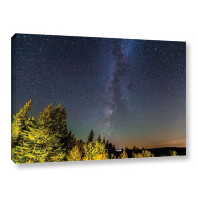 Brushstone Milky Way In Maine Horizontal Gallery Wrapped Canvas Wall Art