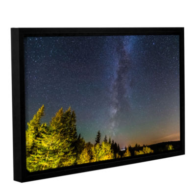 Brushstone Milky Way In Maine Horizontal Gallery Wrapped Floater-Framed Canvas Wall Art
