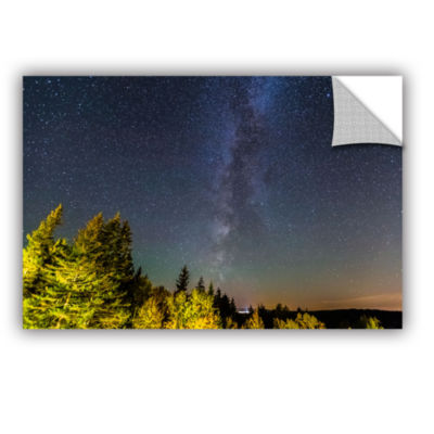 Brushstone Milky Way In Maine Horizontal RemovableWall Decal