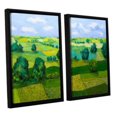 Brushstone Minnesota Fields 2-pc. Floater Framed Canvas Wall Art