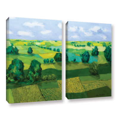 Brushstone Minnesota Fields 2-pc. Gallery WrappedCanvas Wall Art
