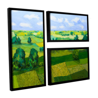 Brushstone Minnesota Fields 3-pc. Flag Floater Framed Canvas Wall Art