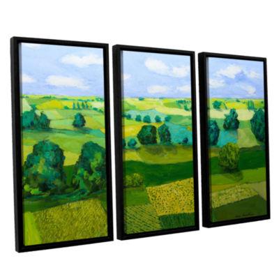 Brushstone Minnesota Fields 3-pc. Floater Framed Canvas Wall Art