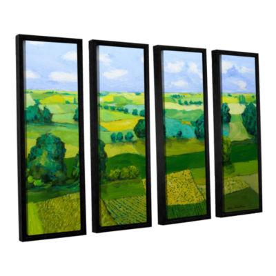 Brushstone Minnesota Fields 4-pc. Floater Framed Canvas Wall Art