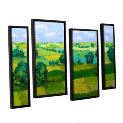 Brushstone Minnesota Fields 4-pc. Floater Framed Staggered Canvas Wall Art