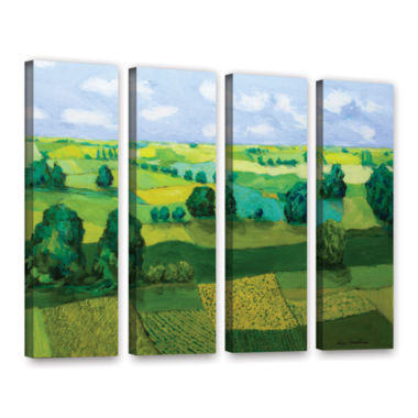 Brushstone Minnesota Fields 4-pc. Gallery WrappedCanvas Wall Art