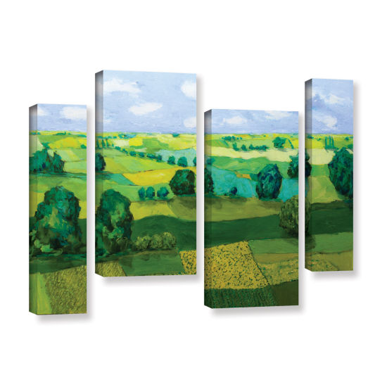 Brushstone Minnesota Fields 4-pc. Gallery WrappedStaggered Canvas Wall Art