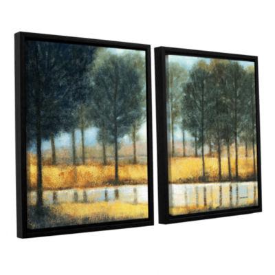 Brushstone Mirror Creek 2-pc. Floater Framed Canvas Wall Art