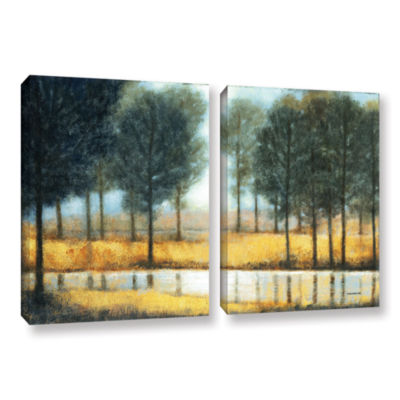 Brushstone Mirror Creek 2-pc. Gallery Wrapped Canvas Wall Art