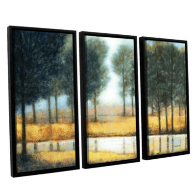 Brushstone Mirror Creek 3-pc. Floater Framed Canvas Wall Art