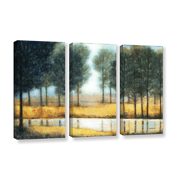Brushstone Mirror Creek 3-pc. Gallery Wrapped Canvas Wall Art