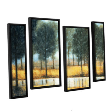 Brushstone Mirror Creek 4-pc. Floater Framed Staggered Canvas Wall Art
