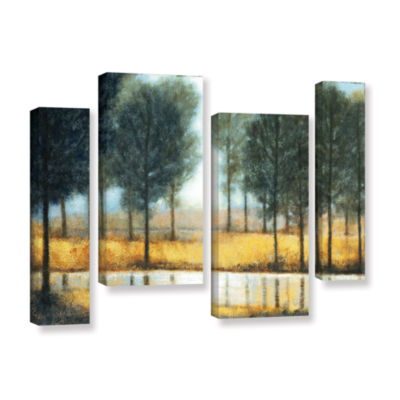 Brushstone Mirror Creek 4-pc. Gallery Wrapped Staggered Canvas Wall Art