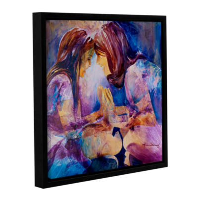 Brushstone Mirror Gallery Wrapped Floater-Framed Canvas Wall Art