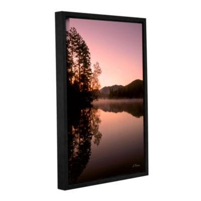 Brushstone Mirror Lake Lake Placid Gallery WrappedFloater-Framed Canvas Wall Art