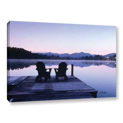 Brushstone Mirror Lake Lake Placid(Chairs) GalleryWrapped Canvas Wall Art