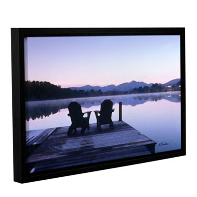 Brushstone Mirror Lake Lake Placid(Chairs) GalleryWrapped Floater-Framed Canvas Wall Art