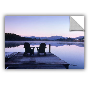 Brushstone Mirror Lake Lake Placid(Chairs) Removable Wall Decal