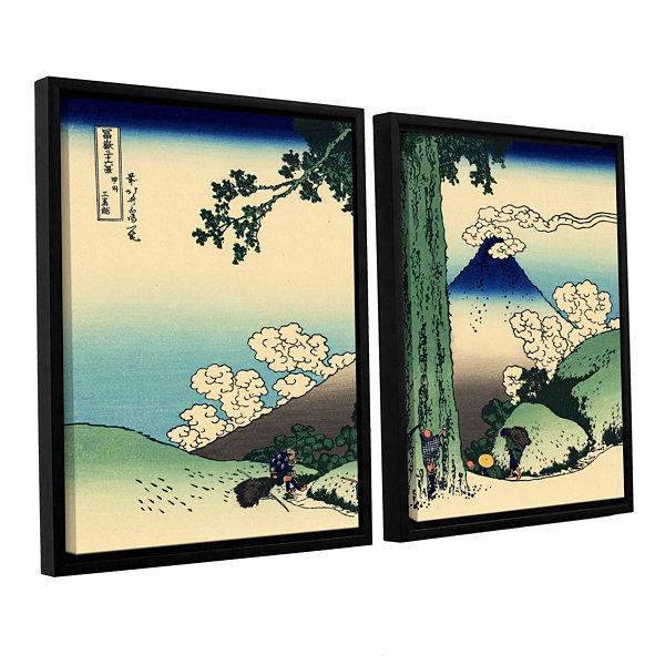Brushstone Mishima Pass In Kai Province 2-pc. Floater Framed Canvas Wall Art