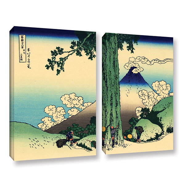 Brushstone Mishima Pass In Kai Province 2-pc. Gallery Wrapped Canvas Wall Art