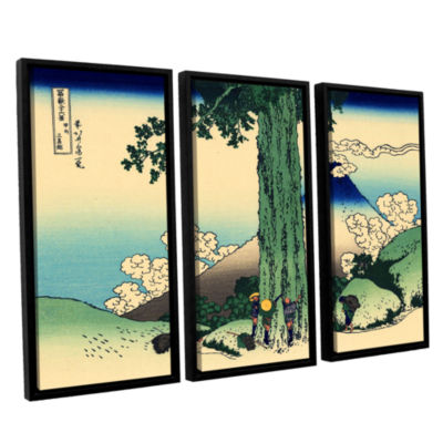 Brushstone Mishima Pass In Kai Province 3-pc. Floater Framed Canvas Wall Art