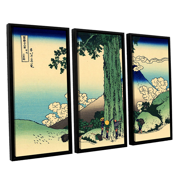 Brushstone Mishima Pass In Kai Province 3-pc. Floater Framed Canvas ...