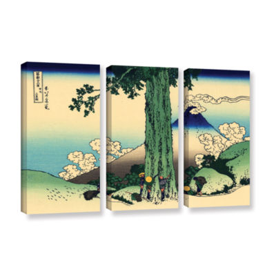 Brushstone Mishima Pass In Kai Province 3-pc. Gallery Wrapped Canvas Wall Art