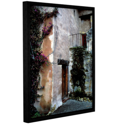Brushstone Mission Bougainvillea Gallery Wrapped Floater-Framed Canvas Wall Art