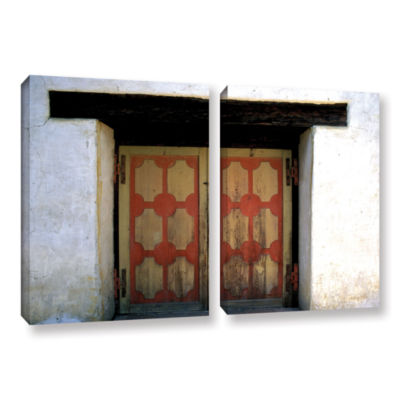 Brushstone Mission Door 2-pc. Gallery Wrapped Canvas Wall Art