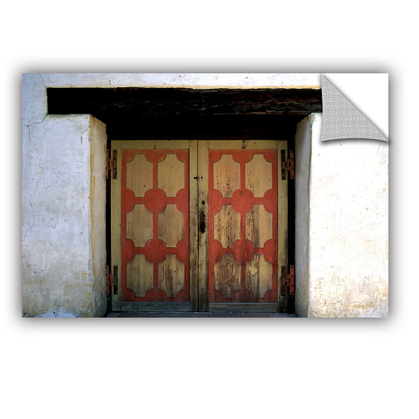Brushstone Mission Door Removable Wall Decal