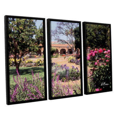 Brushstone Mission San Juan Capistrano II 3-pc. Floater Framed Canvas Wall Art