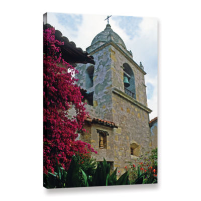 Brushstone Mission Tower Gallery Wrapped Canvas Wall Art